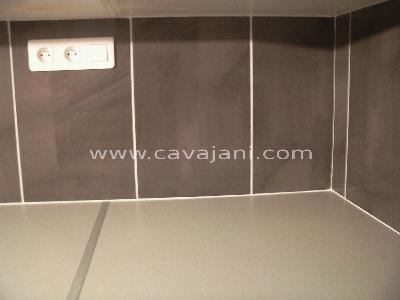 Renovation cuisine mur wc for Pose carrelage plan de travail