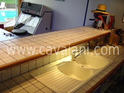 Carrelage moderne faience listel escalier - Renover un plan de travail cuisine ...